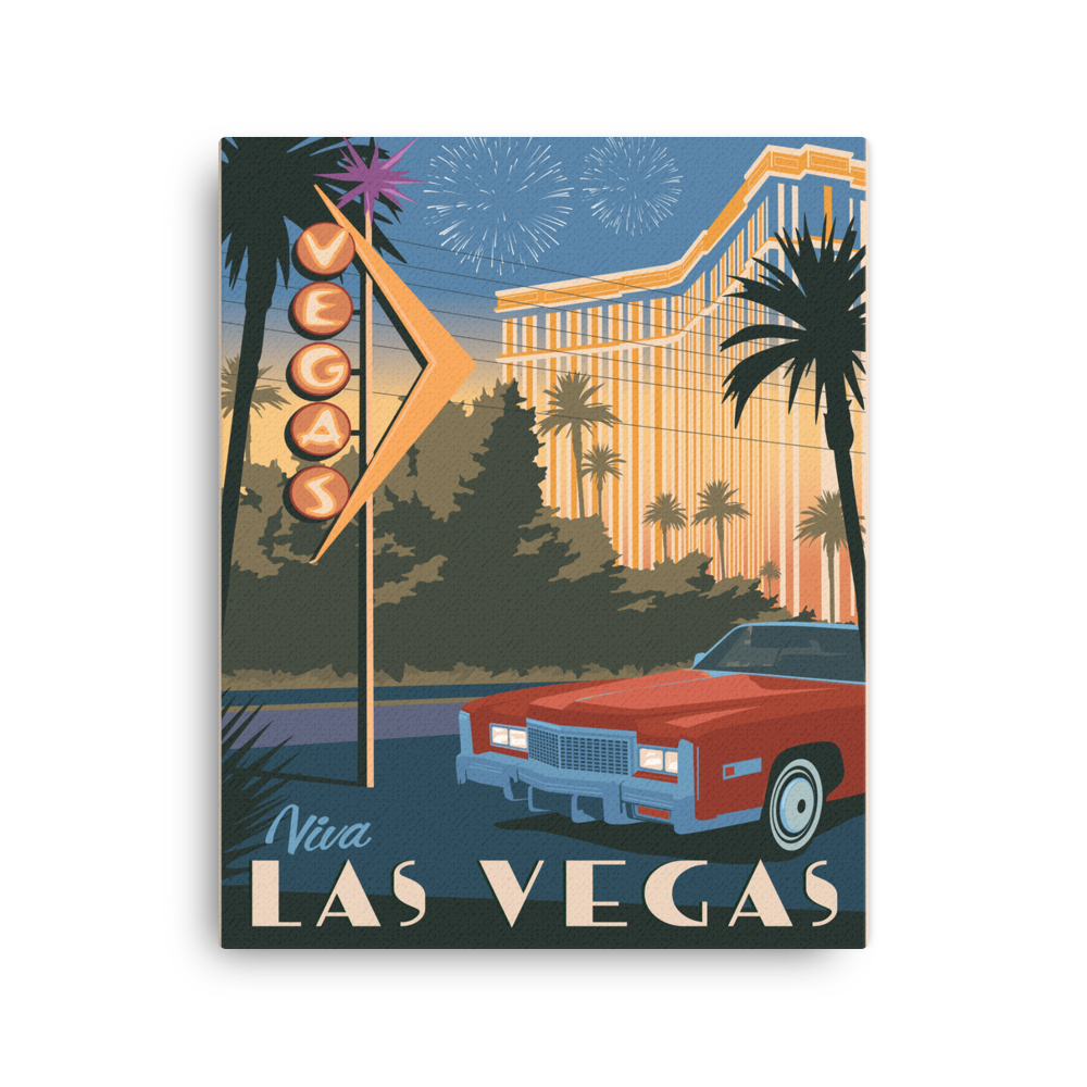 Las Vegas Nevada | Vintage-Style Travel Poster | Canvas Print