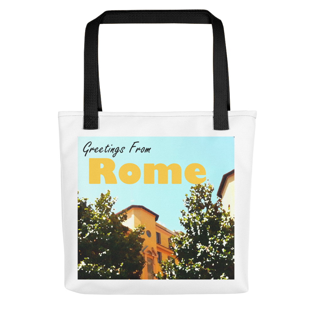 Greetings From Rome | Vintage Travel Poster-Style Tote bag