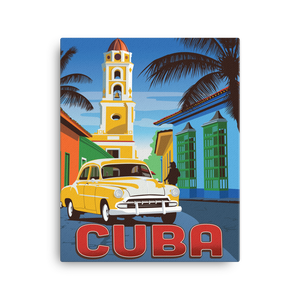 Cuba | Vintage-Style Travel Poster | Canvas Print
