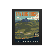 San Luis Obispo California | Vintage-Style Travel Poster | Framed Photo Paper Poster