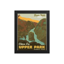 Chico California | Bear Hole | Upper Bidwell Park | Vintage-Style Travel Poster | Framed Print