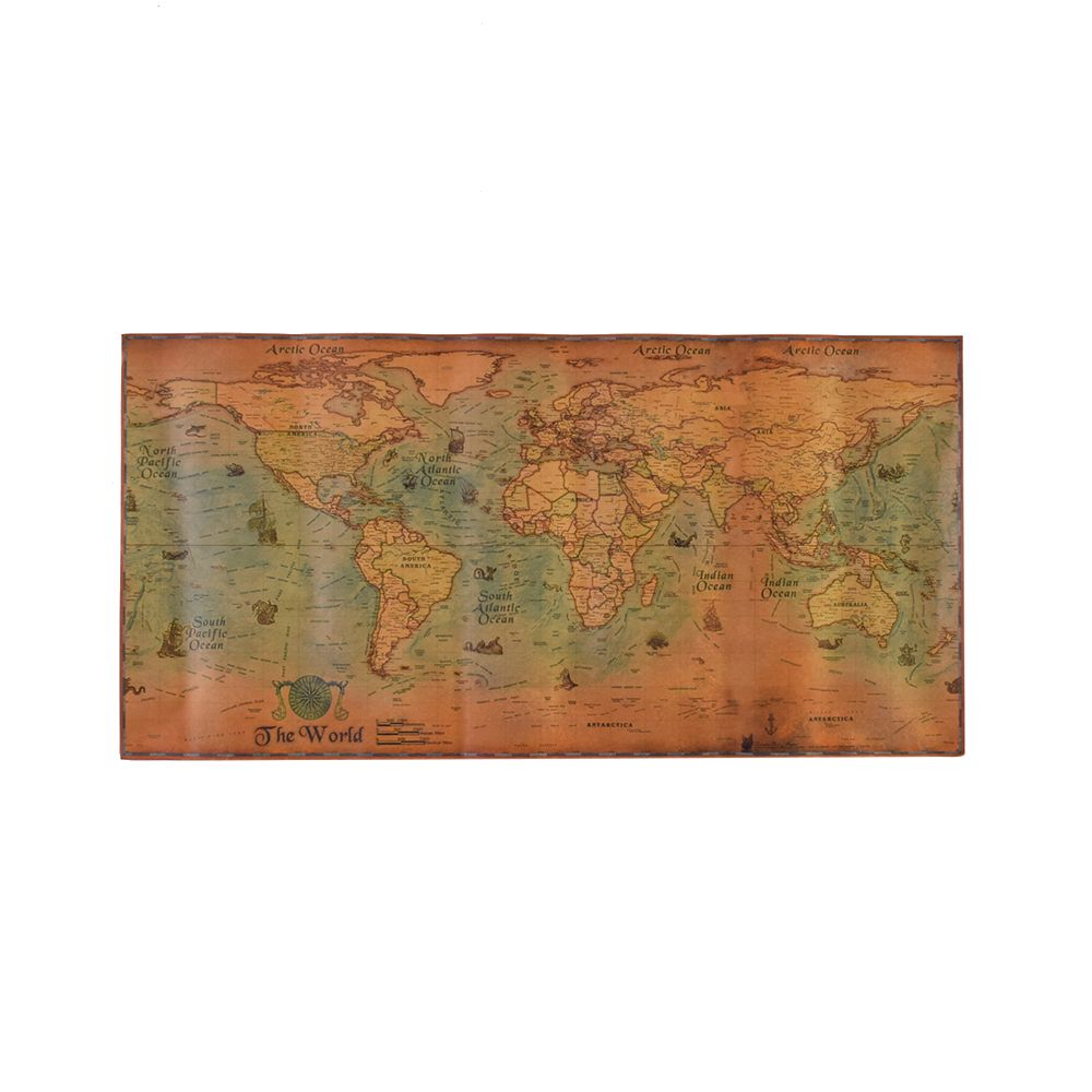 100*50cm Nautical Ocean World Map