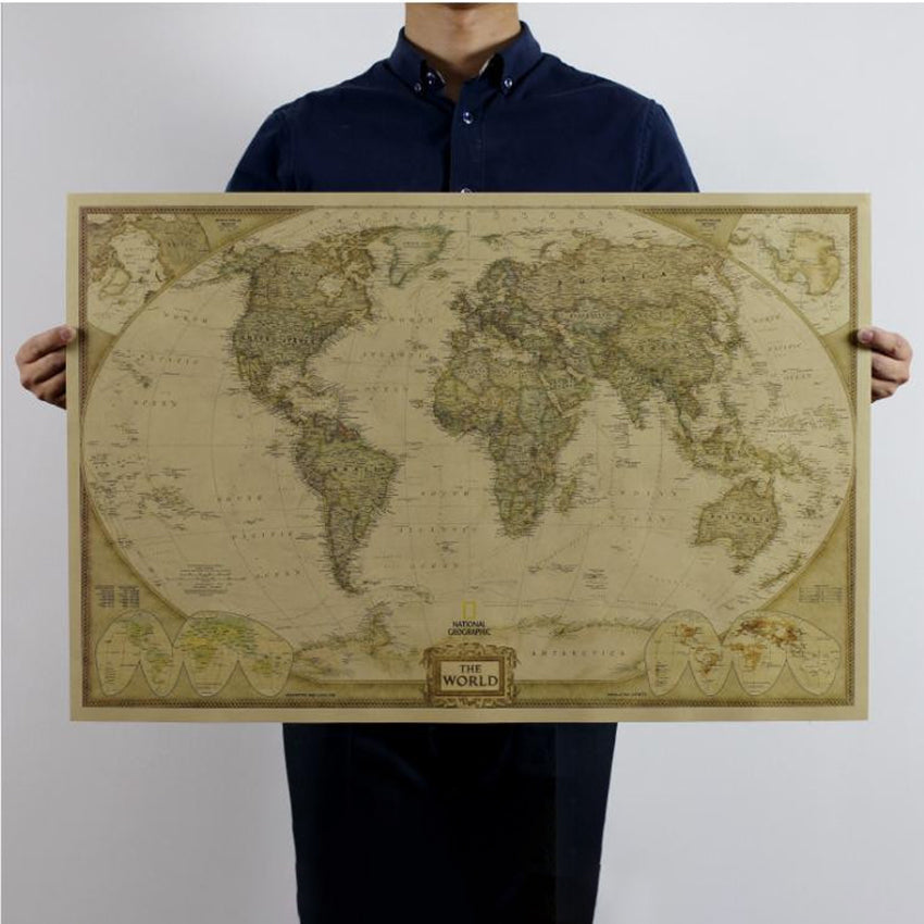 Vintage World Map 72x47 cm