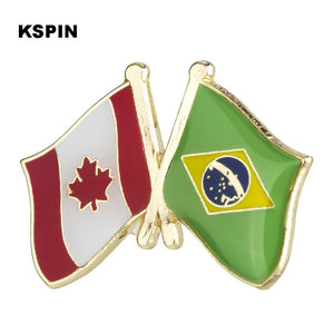 Canada-Brazil Friendship Pin