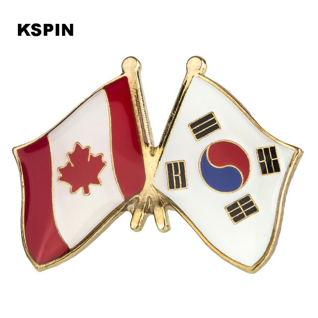 Canada-South Korea Friendship Pin
