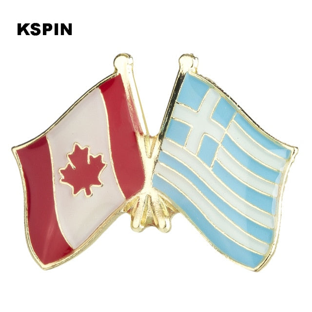 Canada-Greece Friendship Pin