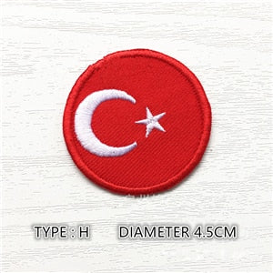 Turkey Round Patch