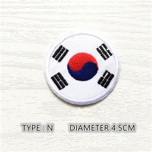 South Korea Round Patch