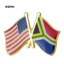 USA-South Africa Friendship Pin