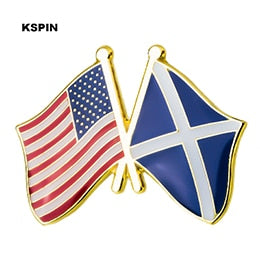 USA-Scotland Friendship Pin