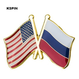 USA-Russia Friendship Pin