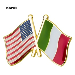 USA-Italy Friendship Pin
