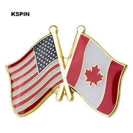 USA-Canada Friendship Pin