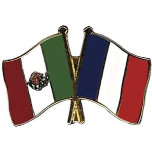 Mexico-France Friendship Pin