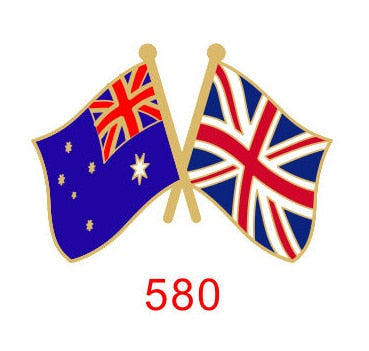 Australia - UK Friendship Pin