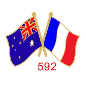 Australia - France Friendship Pin