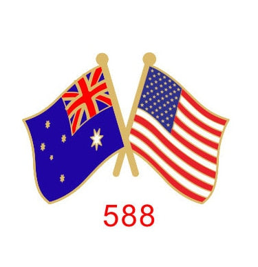 Australia - USA Friendship Pin