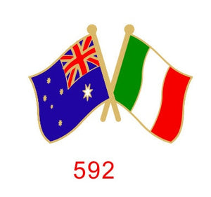 Australia - Italy Friendship Pin