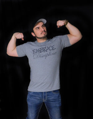 "Heather Grey ""Embrace Discipline"" Tee - Unisex"