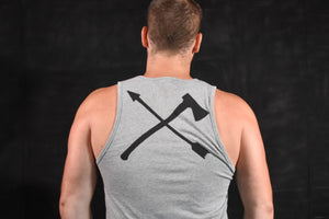 Become Unbroken Unisex Tank Blue And Grey