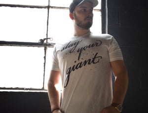 "Overspray ""Slay Your Giant"" Tee - White Unisex"