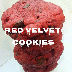 Red Velvet Chocolate Chip Cookies