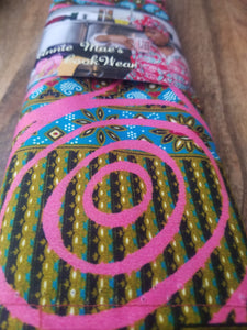 Antique African Pink Circle Headwrap