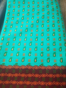 Teal African Dance Headwrap