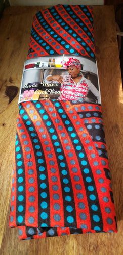 African Red Dot Headwrap