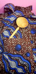 Blue+Brown African Canoe Apron