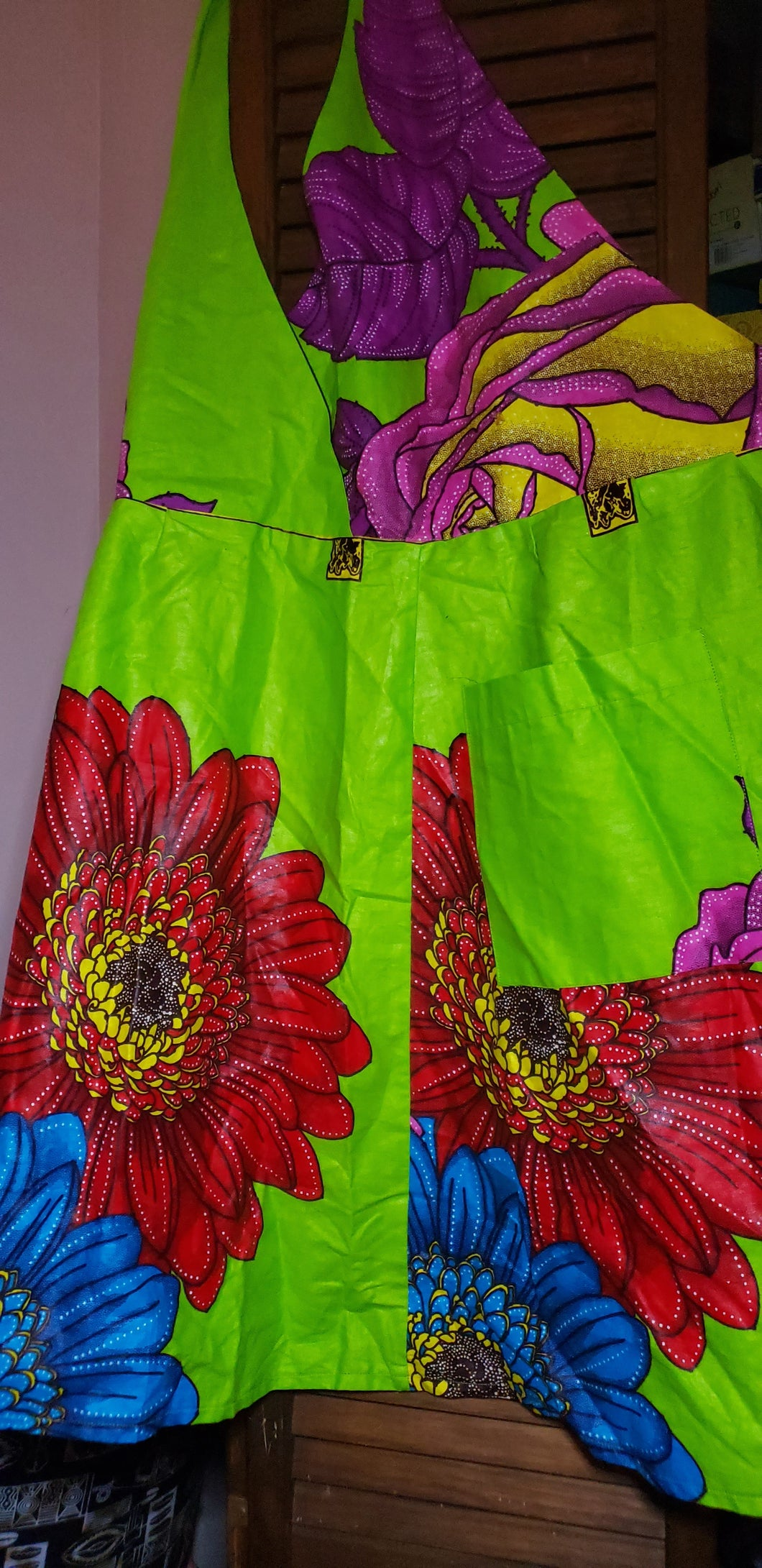 African Tropical Flower Apron