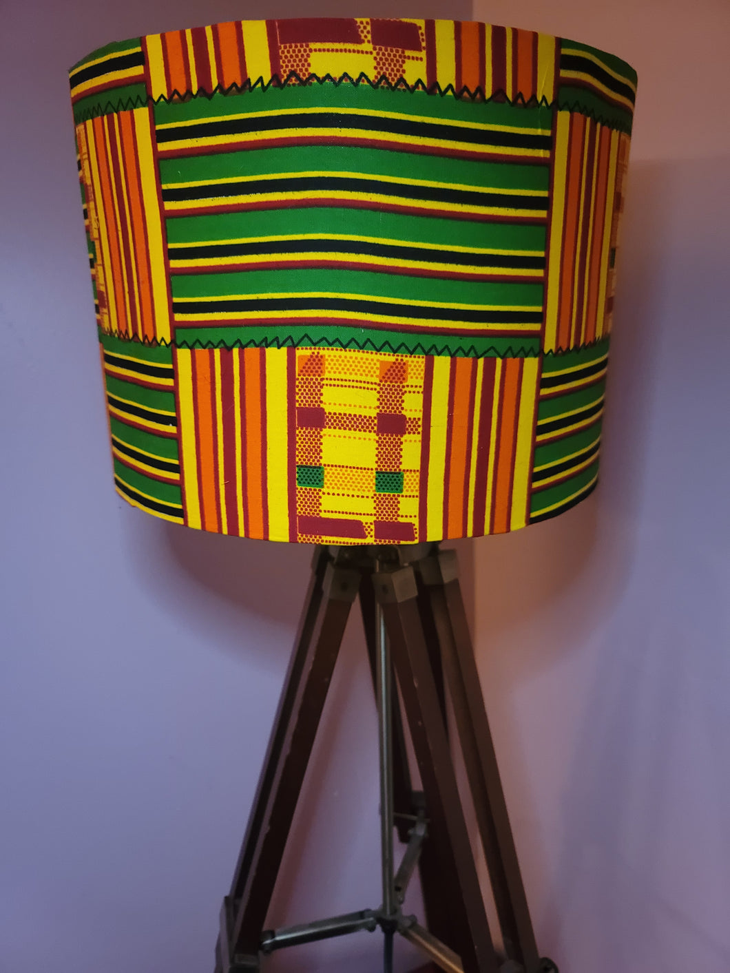 African Sunshine Kente Cloth Lampshade