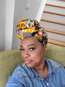 African Patchwork Headwrap