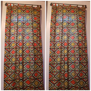 African Gold Mine Ankara Print Curtain Panel