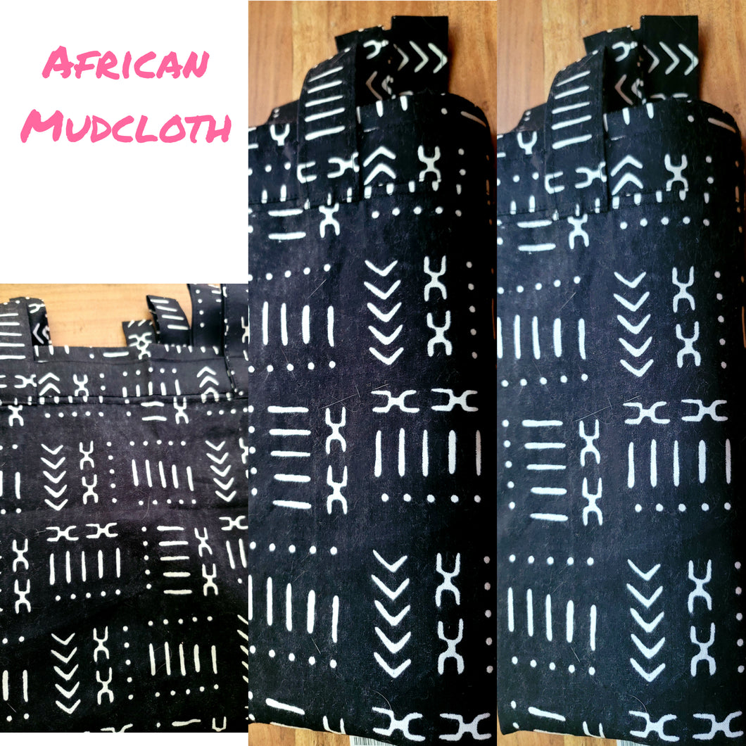 African Mudcloth Curtain Panel