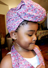Pink Bubbles Apron+Headwrap