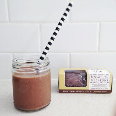 Easy Healthy Coconut Chocolate Brownie Shake