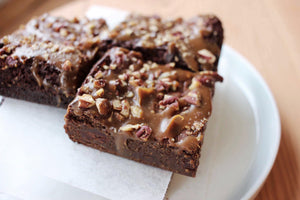 Double Chocolate Caramel Pecan Brownie