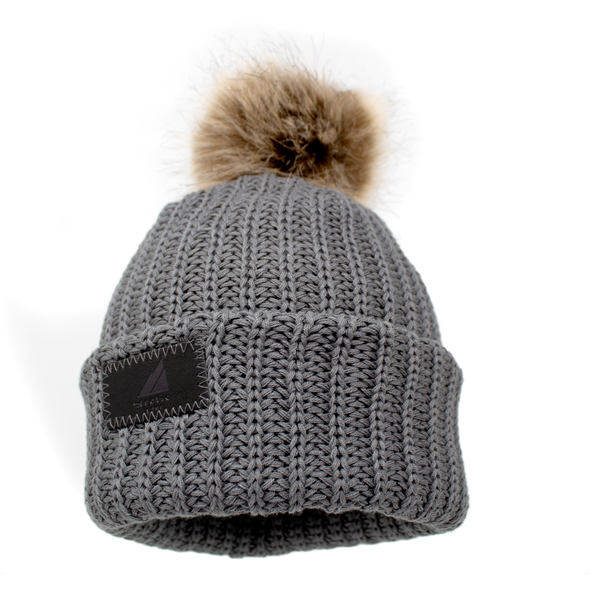 Toddler Cotton Cuff Hat with Pom