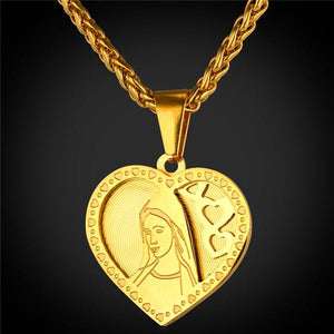 loading gold miraculous yellow round s medallion solid mary mother pendant charm is graphic itm virgin image