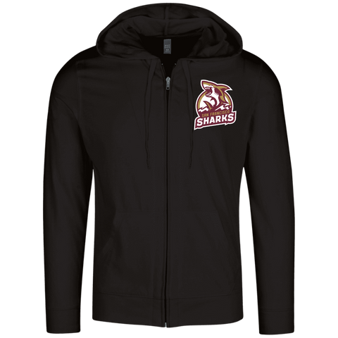San Francisco Sharks | Street Gear | Embroidered Lightweight Full Zip Hoodie