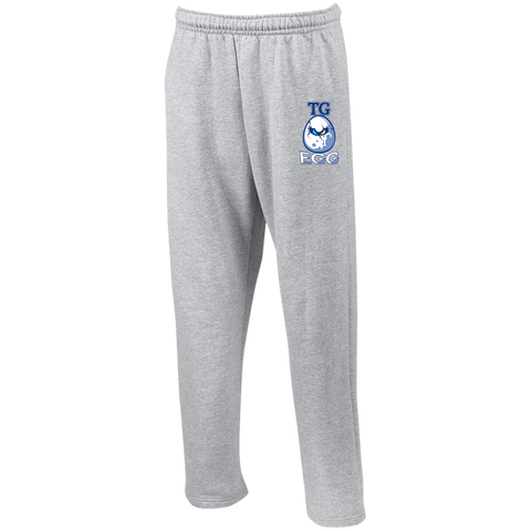 Totino Grace High School | Street Gear | Open Bottom Sweatpants with Pockets [Embroidered]