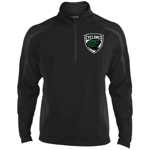 Oklahoma City Cyclones | Street Gear | Embroidered Sport Wicking Colorblock 1/2 Zip