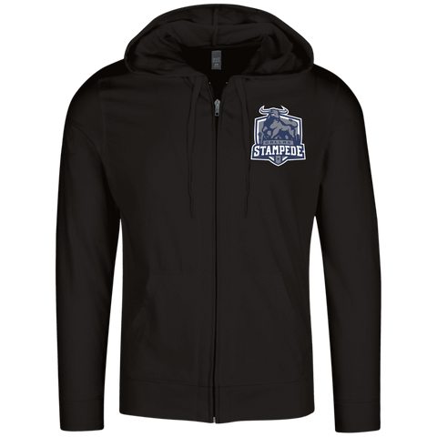 Dallas Stampede | Street Gear | Embroidered Lightweight Full Zip Hoodie