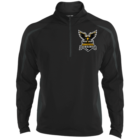 Pittsburgh Ironhawks | Street Gear | Embroidered Sport Wicking Colorblock 1/2 Zip