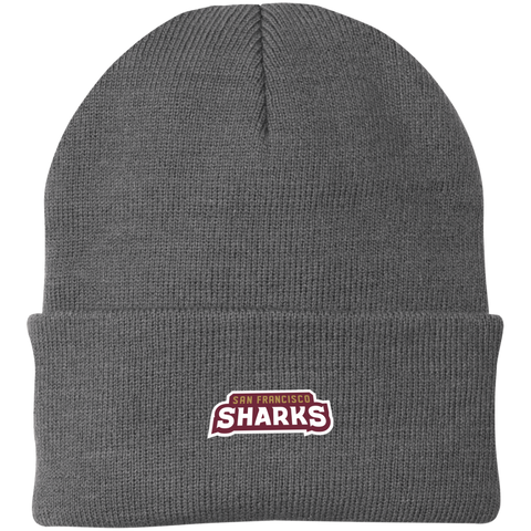 San Francisco Sharks | Street Gear | Embroidered Knit Cap