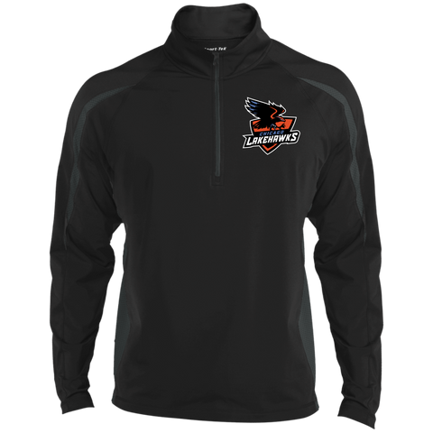 Chicago Lakehawks | Street Gear | Embroidered Sport Wicking Colorblock 1/2 Zip