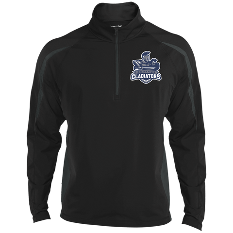 Indianapolis Gladiators | Street Gear | Embroidered Sport Wicking Colorblock 1/2 Zip