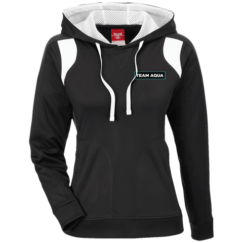 Team Aqua | Street Gear | Ladies' Colorblock Poly Hoodie [Embroidered]