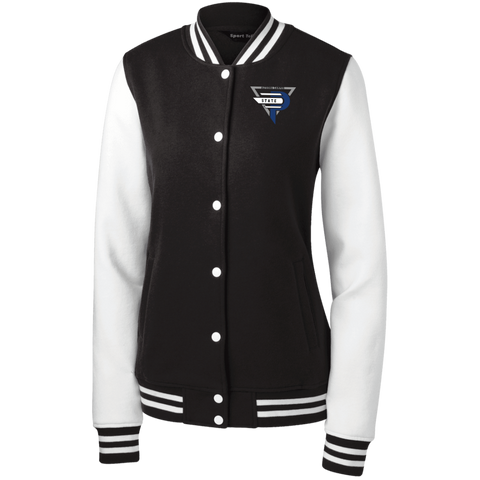 Esports at Penn State Altoona | Street Gear | Embroidered Women's Fleece Letterman Jacket